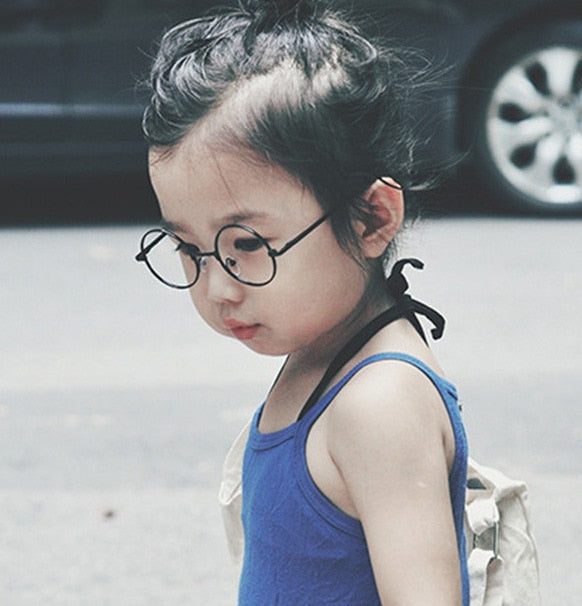 2018 Fashion Round Children Glasses Frame  Baby Boys Girls Eyeglasses Frame Vintage  Kids Clear Lens  Optical Spectacle 2-7 old