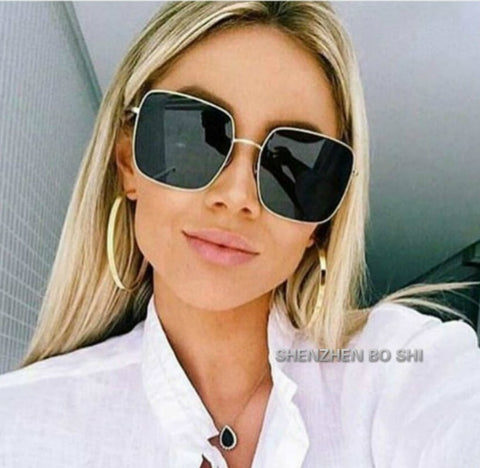 37f164fe4a 2018 NEW square frame vintage sunglasses Women Oversized Big Size Sun  Glasses for Men Female Shades Black UV400 Eyewear.  10.59. Red Bean Clear  ...