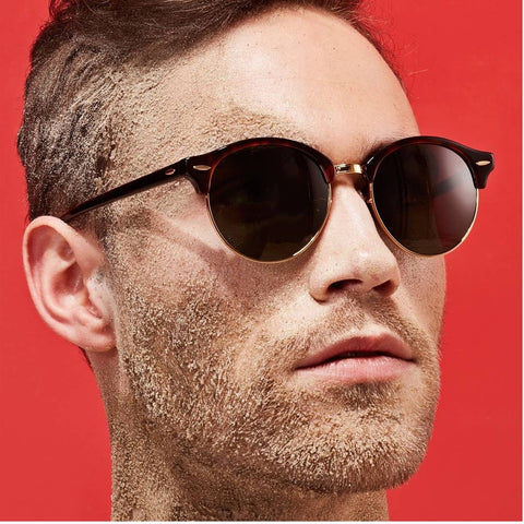 9a229694037 Hot Sunglasses Women Popular Brand Designer Retro men Summer Style Sun  Glasses Rivet Frame Colorful Coating Shades