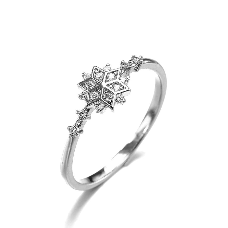9278124a3c919c ROMAD Chic Dainty Cute Women's Snowflake Rings Delicate Rings Rings Wedding  Jewelry Gold / Silver color