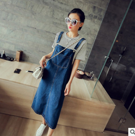 2018 New Summer Women Denim Dresses Korean Vintage Spaghetti Strap Single-Breasted Casual Dress Sundress Vestidos Stylish Female
