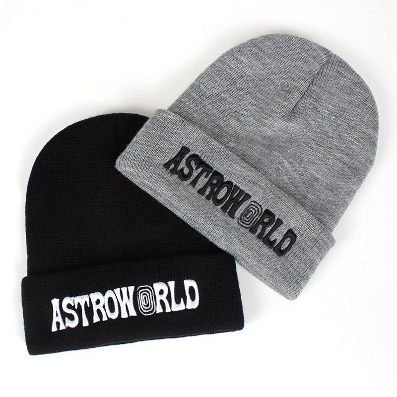 97995f42e4c Travi  Scott Knitted Hat ASTROWORLD Beanie 3D Embroidery Astroworld Ski  Warm Winter Unisex Travis Scott