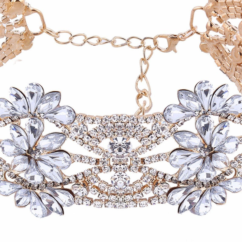 e61e9059ea27b 2016 fashion big crystal flowers collar choker necklace vintage statement  necklace women maxi necklaces neck Jewelry collares