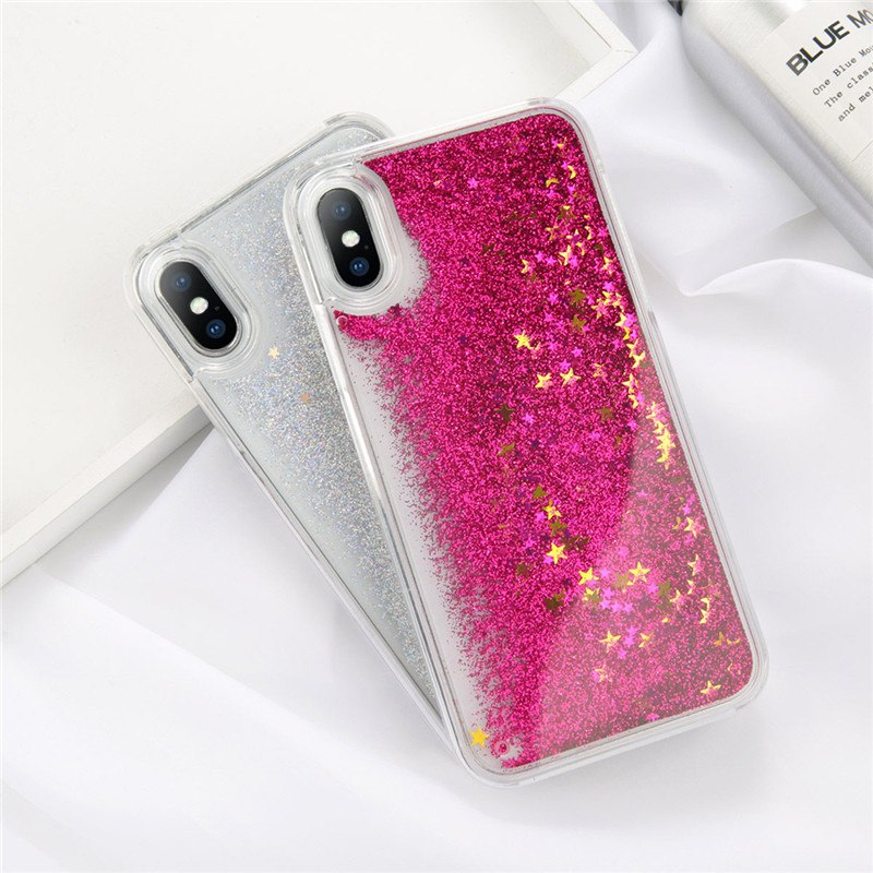 d79e7a129c Moskado Bling Glitter Stars Dynamic Liquid Quicksand Phone Case For iPhone  5 5s SE 6 6s