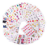 58 pcs/set Mixed Colorful Nail Sticker Fashion Fruit/Cake/Flower Water Transfer Wraps Tips Nail Decor Manicure Tool CHSTZ455-512