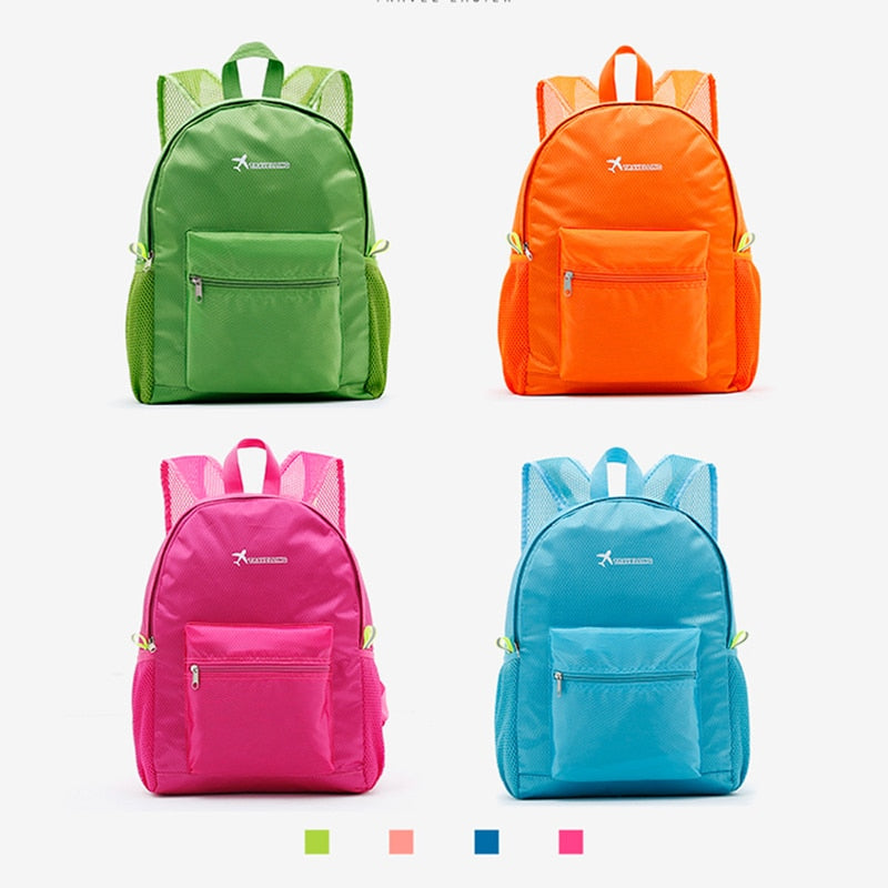 Fashion Folding Backpack Women  Schoolbag Back Pack Leisure Korean Ladies Knapsack Laptop Travel Bags for School Teenage Girls
