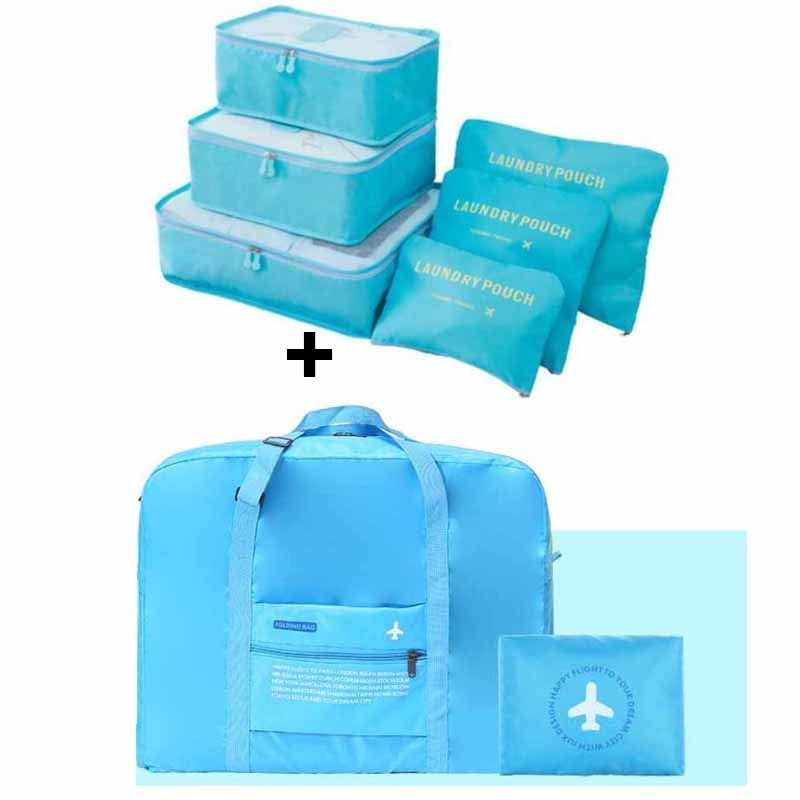Travel Handbags Fashion Clothes Organizer Travel Bag Large Capacity Bag Women Nylon Folding Bag Unisex Luggage Traveling