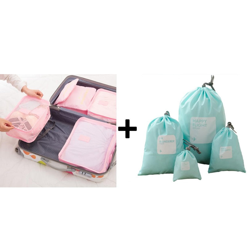 Travel Mesh Bag Luggage Organizer Packing Men and Women Luggage Travel Bags Packing Cubes Organizer Folding Bag Bags