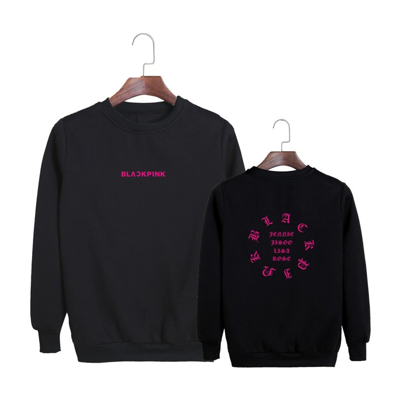 BLACKPINK  Album Anniversary Black Pink Cotton Hoodies Pullovers Sweatshirts