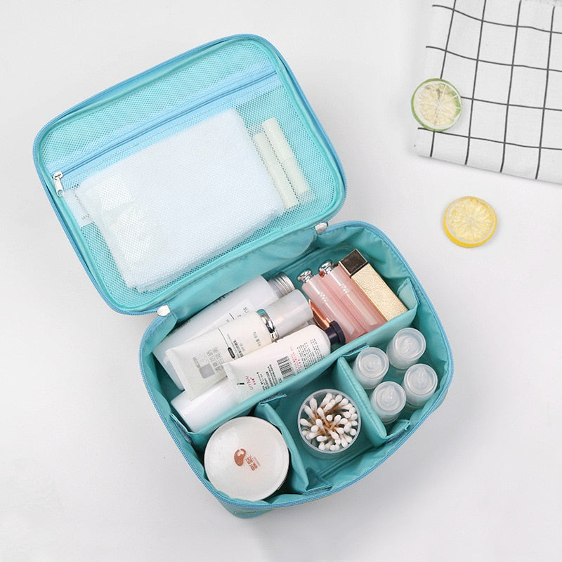 New Zipper Women Makeup bag Big Capacity travel Cosmetic bagS beauty Case Make Up Organizer Toiletry bag kits Travel Wash pouch