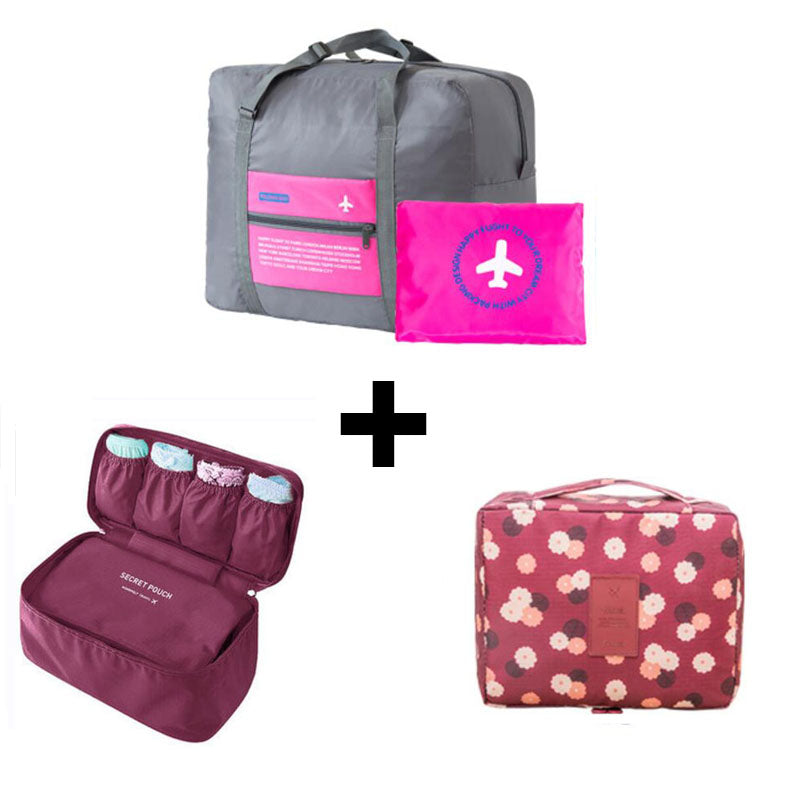 Travel Organizer Cosmetic Bag Portable Luggage Storage Case Bra Underwear Pouch Drawer Dividers Container Travel Bags