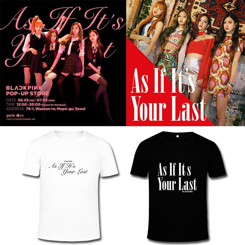 BLACKPINK  Album As If It's Your Last Black Pink  Tshirt