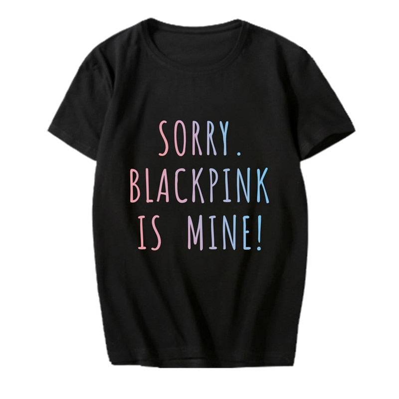 Sorry Blackpin is mine Tshirt T Shirts Short Sleeve