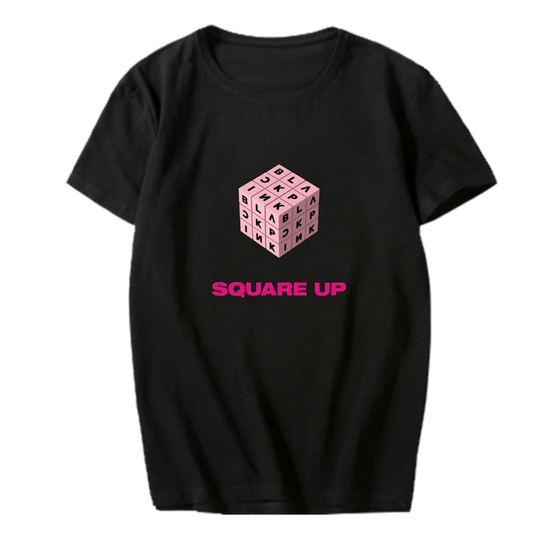 Blackpink Album SQUARE UP T Shirts Short Sleeve Tops