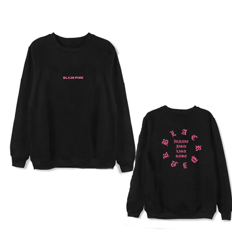 BLACKPINK SQUARE Album Casual Loose Hoodies Clothes Pullover Sweatshirts
