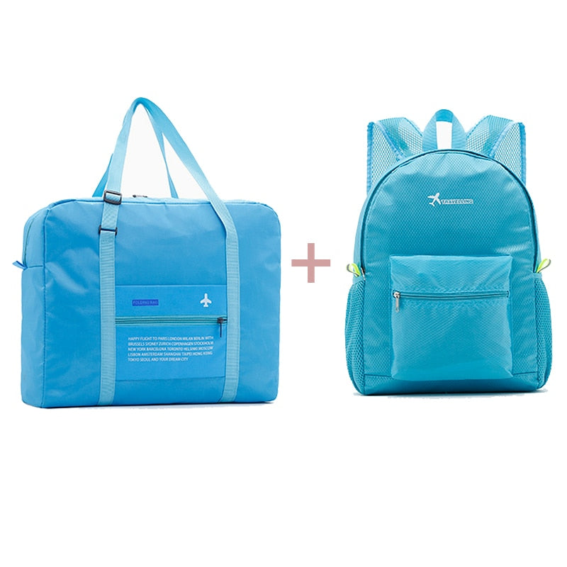 Fashion Women Travel Bags Unisex Luggage Bags Nylon Folding Large Capacity Luggage Travel Bags Portable Men Handbag wholesa