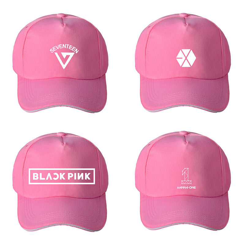 KPOP EXO BLACKPINK SEVENTEEN WANNA ONE Album Baseball Cap Hip-hop Cap Men Women Hats