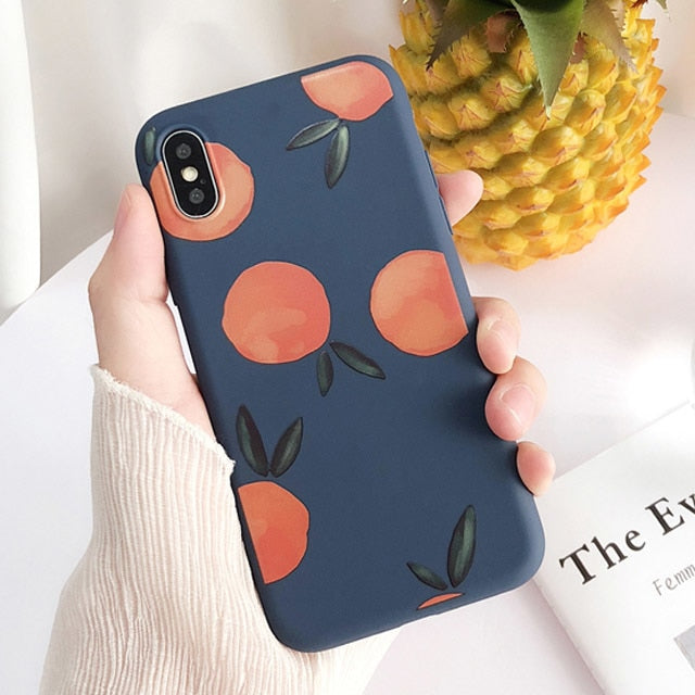 6aaf0f8bf7 Retro Cartoon Fruit Phone Case For iphone X Case For iphone 6 6S 7 8 Plus