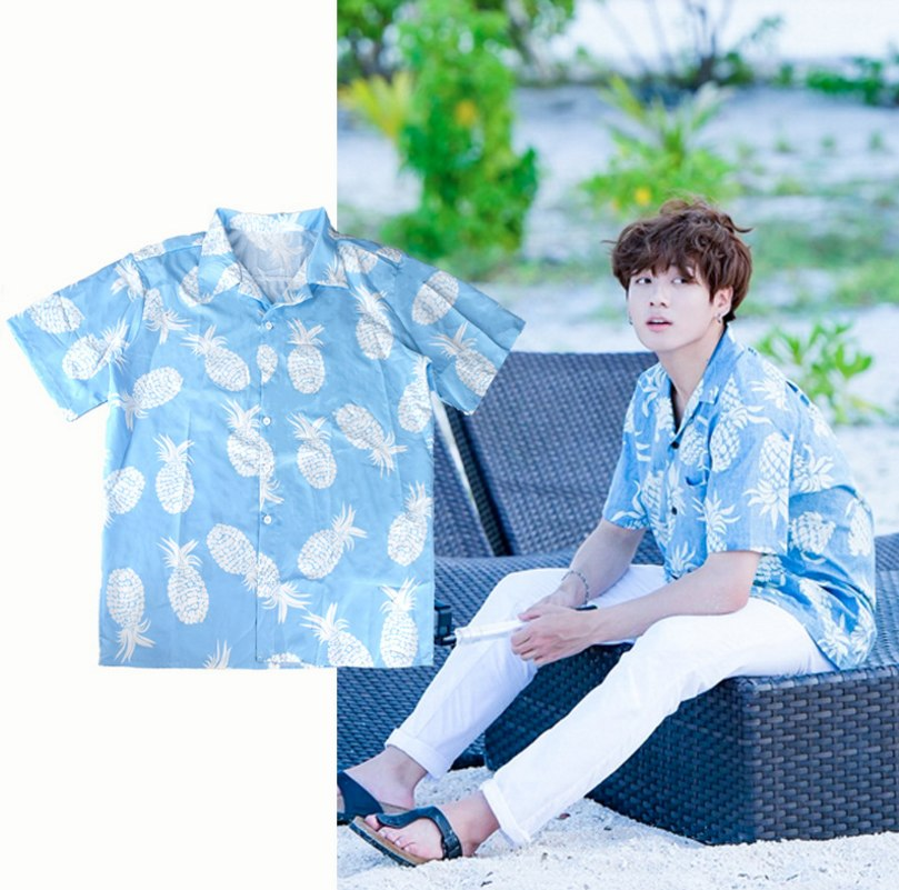 Bangtan boys bts jungkook summer blue blouse same shirt