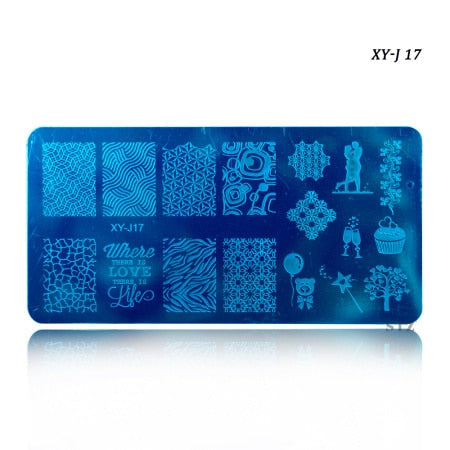 12x6cm 16 Designs Flower Christmas Winter DIY Polish Stamping Nail Art Stamp Templates Nail Stencils Transfer Tools XYJ17-32