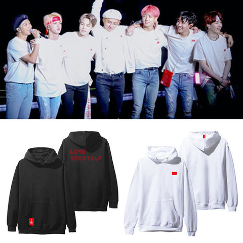 BTS Hoodies Bangtan Boys Love Yourself Album Print Sweatshirt Women Pullovers Kpop Korean Style Casual Sudadera Mujer
