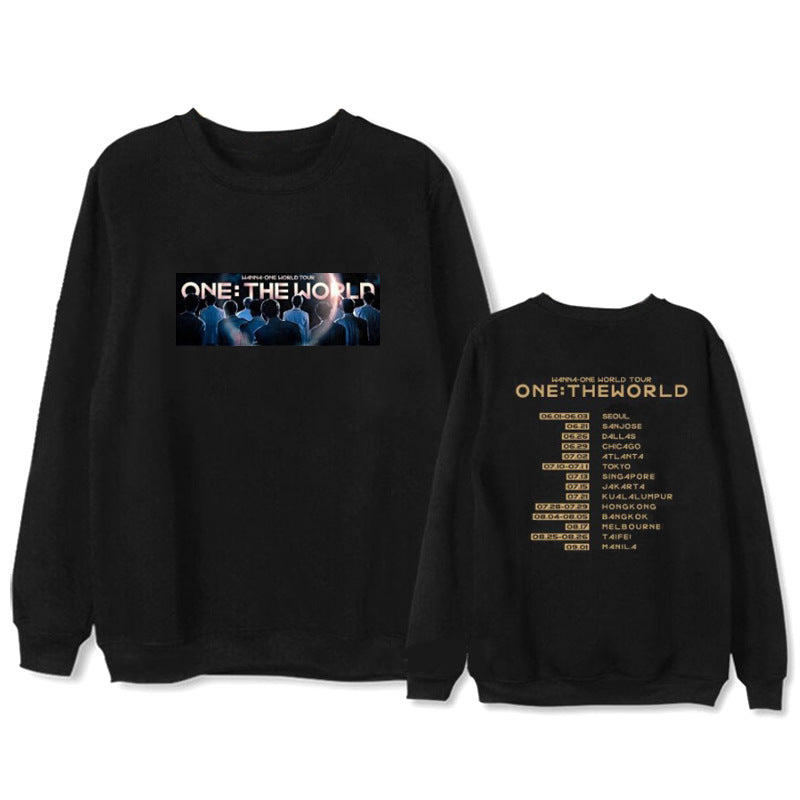 WANNA ONE Album ONE THE WORLD Hoodie  Pullover Printed Long Sleeve Sweatshirts