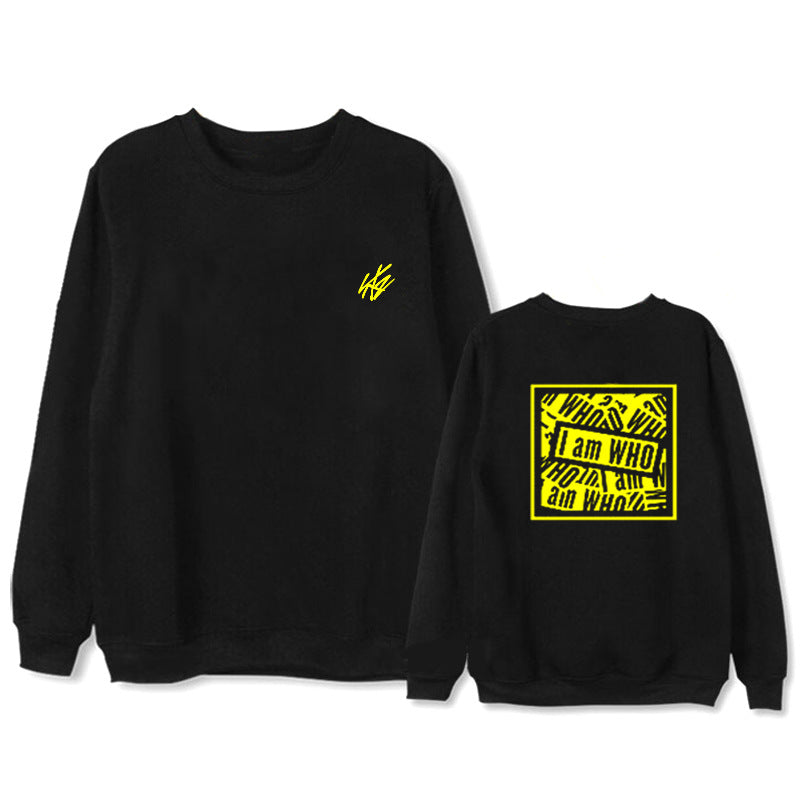 Straykids I am WHO FELIX Album Hoodie Casual Loose Hooded Clothes Pullover Printed Long Sleeve Sweatshirts