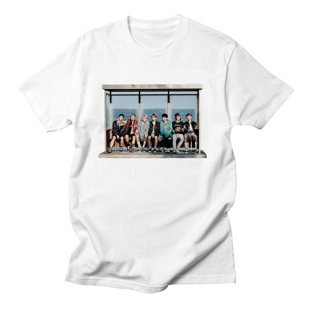 BTS ARMY KPOP Style Fashion HIP HOP Cotton Streetwear Harajuku Funny Cute Summer Tshirt Tops Tee Letter Print Cool