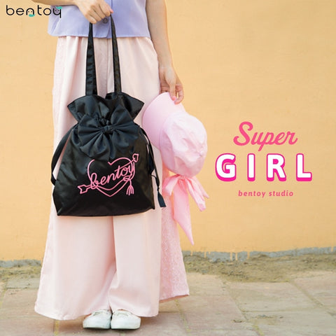 Bentoy Women Lovely Cute Bowknot Shoulder Bag Female Tote handbag Harajuku Letters Shopping Bag Clutch Hand Bag Feminina Blosa