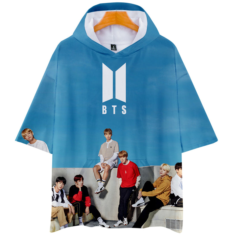 3D Print LOVE YOURSELF ANSWER Harajuku Hoodies Sweatshirt Women Clothes Short Sleeve Hip Hop Tops pop Size 4XL
