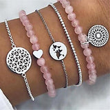 =19 Style Bohemian Rope Chain Bracelets Sets For Women Men Hot Vintage Fashion Map Tassel Charm Bracelets Jewelry Gifts