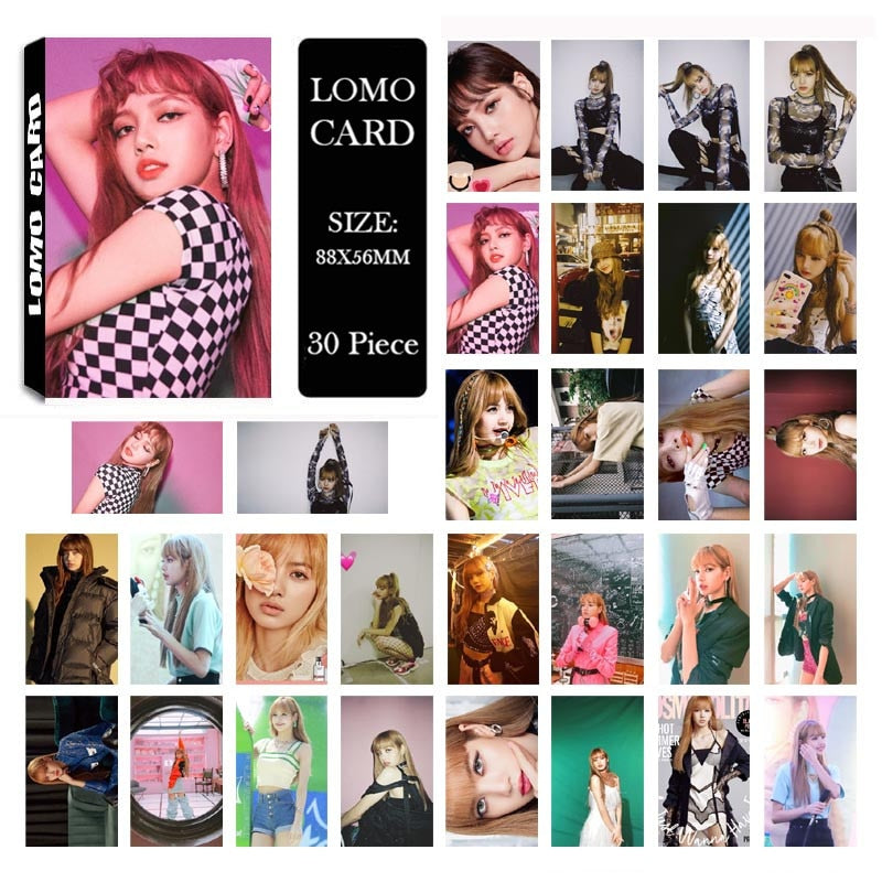BLACKPINK SQUARE UP Album LOMO Cards jennie LISA  Photo Card HD Photocard