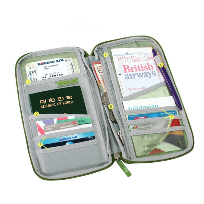Travel Passport Cover Wallet Travelus Multifunction Credit Card Package ID Holder Storage Organizer Clutch can tailor-made