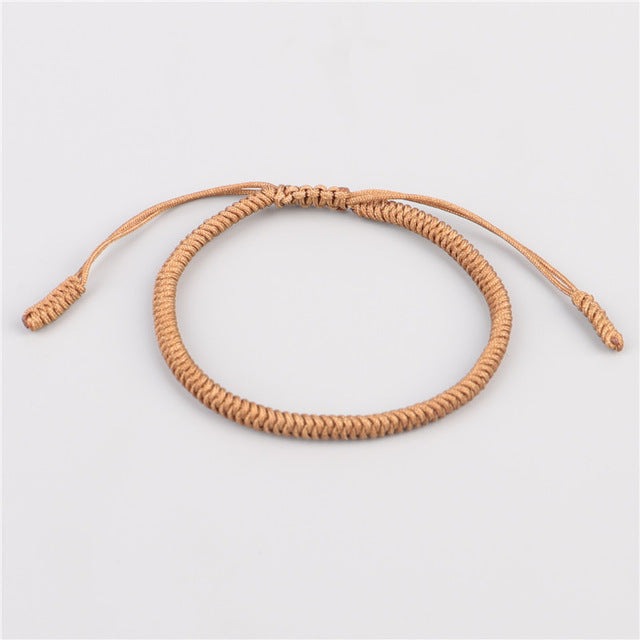2 Colors Ethnic Bohemia Handmade Tibetan Buddhist Braided Knot Lucky Rope Bracelets For Men Women Statement Bracelet