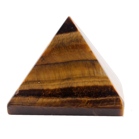 Yellow Tiger Eye Pyramid - Mineralogee