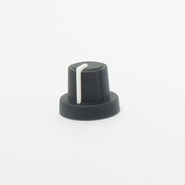 Knob, rubber type large, black.