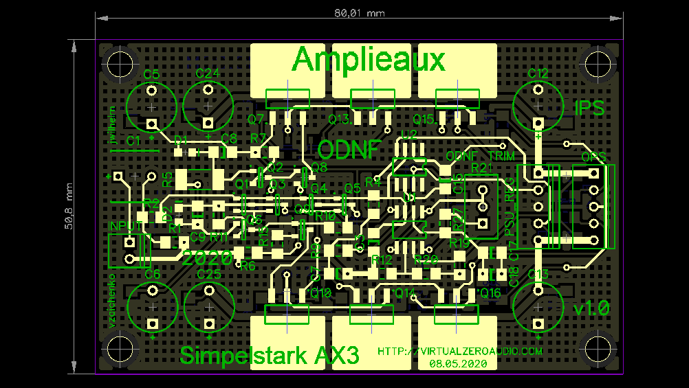 AX3 - the new version of ODNF amplifier is in design stage now