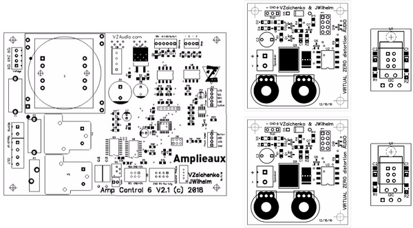 Amp Control System V6.2.2 Boards Bundle (5 PCBs)