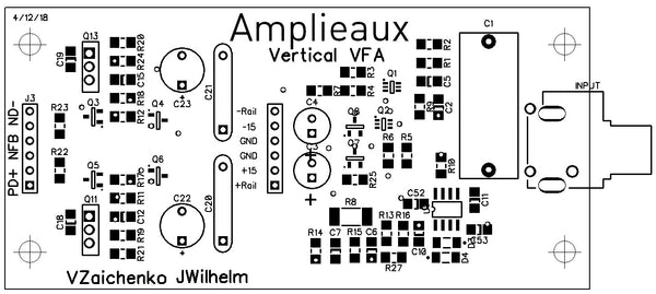 NS Modular Vertical VFA input boards set (2 x PCBs)