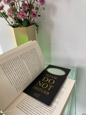 Using our do not disturb sign as a bookmark