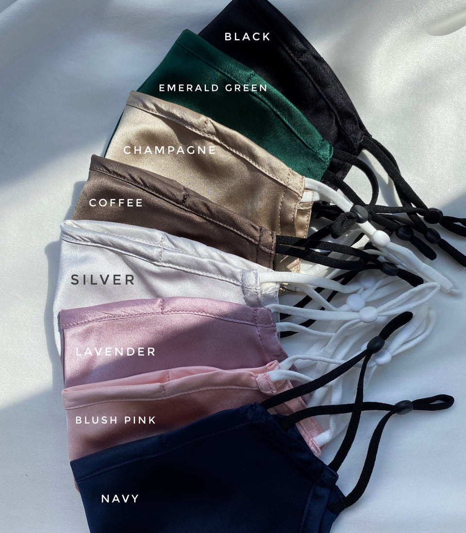 [Bundle of 8 X Colours] 100% 19momme Mulberry Silk Face Mask