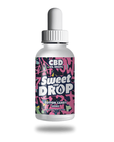 Sweet Drop Cotton Candy CBD Oil Drops 300mg