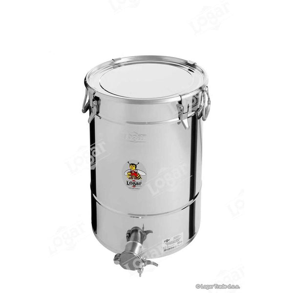 Logar 50kg Honey Tank - Air Tight Lid & Stainless Steel Gate