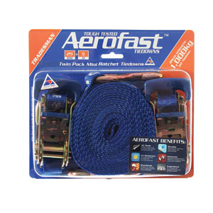 Aerofast Tiedown Ratchet 5m x 25mm TWIN PACK