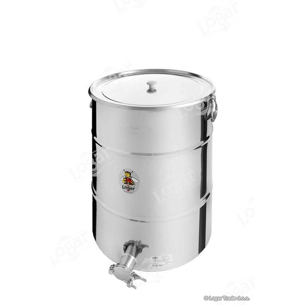 Logar 100kg Honey Tank - Stainless Steel Gate