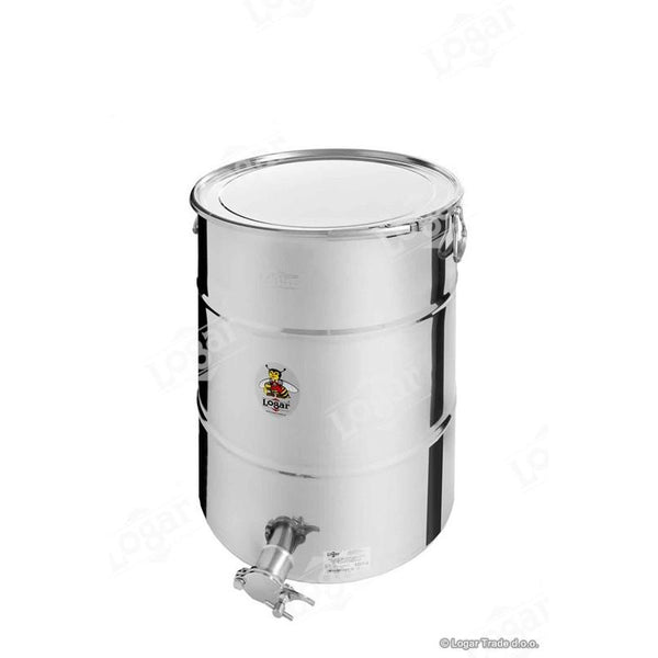 Logar 100kg Honey Tank - Air Tight Lid & Stainless Steel Gate