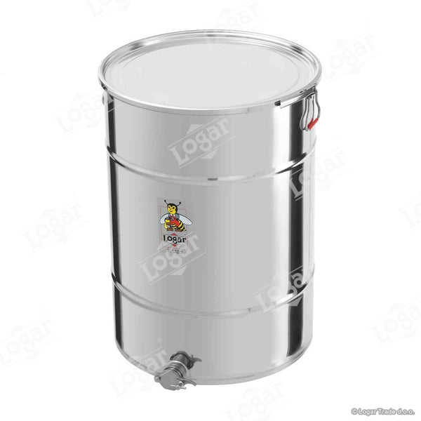 Logar 200kg Honey Tank - Air Tight Lid & Stainless Steel Gate