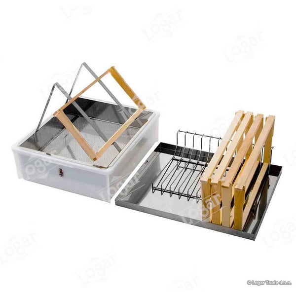 Logar Uncapping Tray - Stainless Steel Lid, Uncapping Stand and Frame Holder