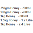 Honey Pails - 250g Individual Plastic Honey Tub