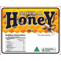 Honey Label and Nutrition Panel Labels SINGLE